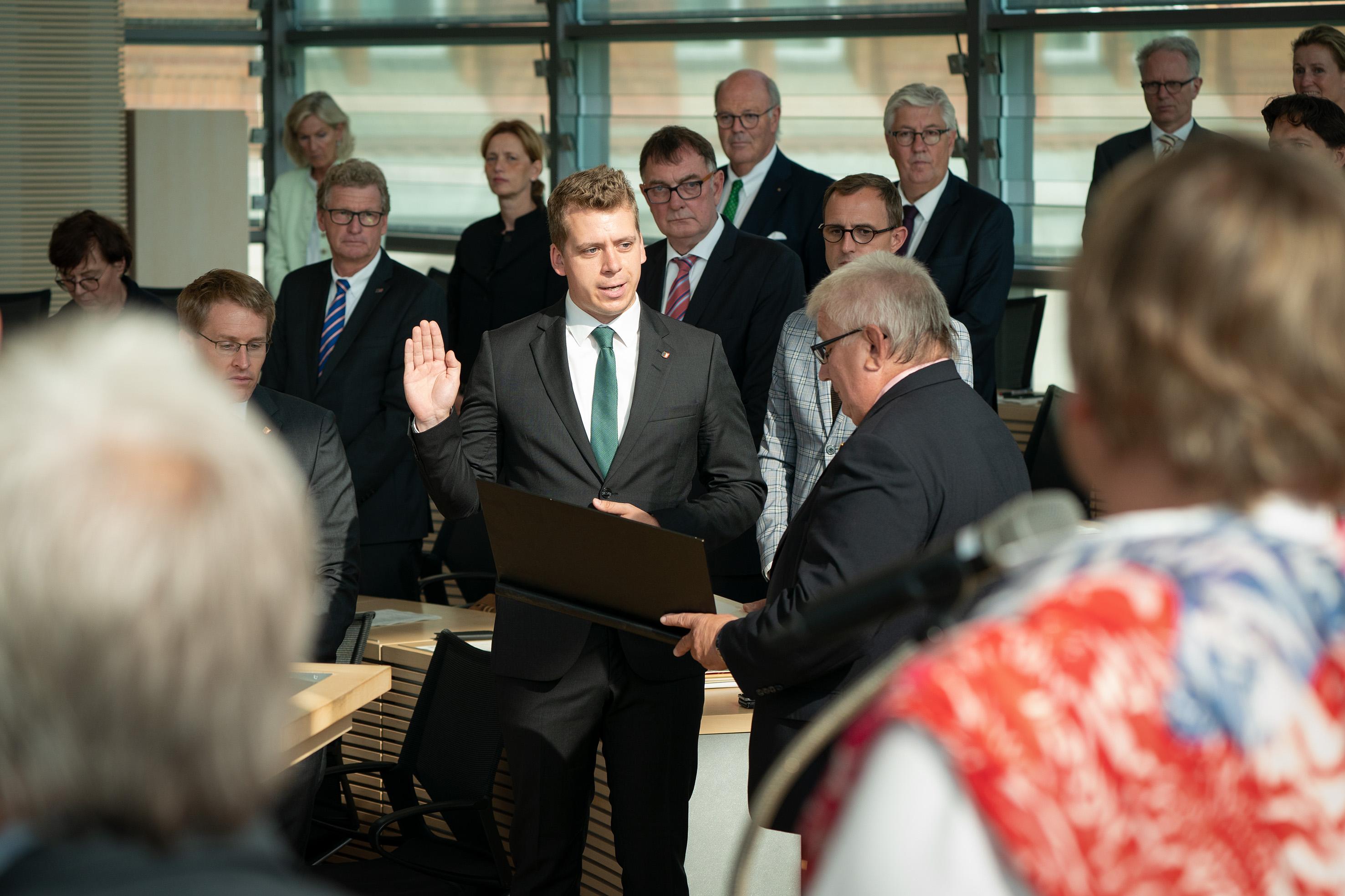 Vereidigung im Landtag